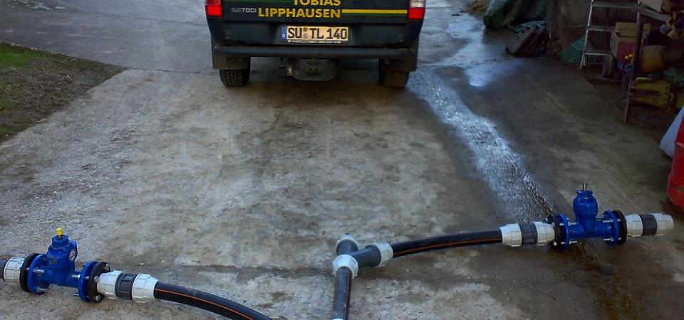 Anschluss Pumpenanlage